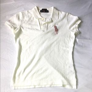 Ralph Lauren polo collared embroidery white shirt